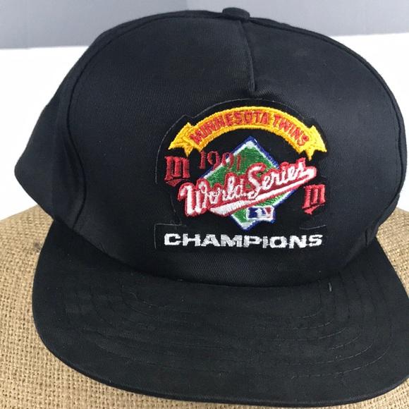uk availability 87e0c 380f3 ... coupon code 1991 minnesota twins world series champs hat d6b54 d987a